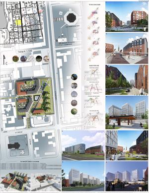 Проект жилого комплекса «Красная площадь» в Ижевске. ООО «Архитектурное бюро «Кубика»