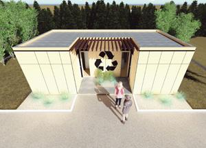 Проект пункта приема вторсырья и модульной контейнерной площадки. Poting N.G.