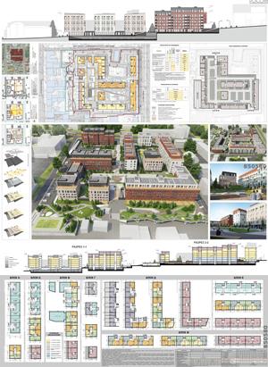 Проект жилого комплекса «Красная площадь» в Ижевске. Глазырин Н.В. и др.