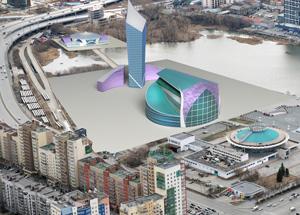 Конкурсный проект конгресс-центра в Челябинске. Сташков С.Н.
