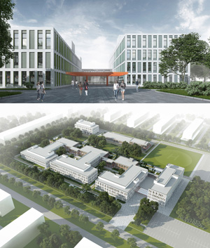 Проект центральной районной больницы на 240 коек. ООО «Гинзбург и Архитекторы»