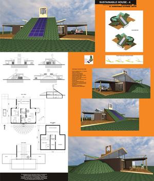 Экоустойчивый дом на восполняемых источниках энергии Sustanable House 4