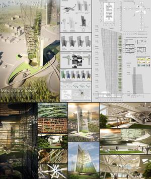"""Концепция быстровозводимых мобильных пространств социального жилья """"Meccano tower"""""""