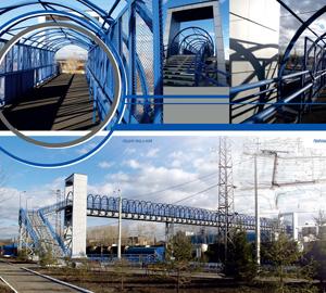 Пешеходный мост на ст. Кая. Иркутск