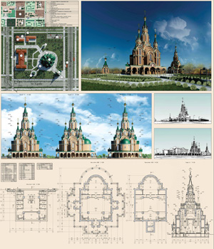 Православный храмовый комплекс на территории Новосибирского оффинажного завода