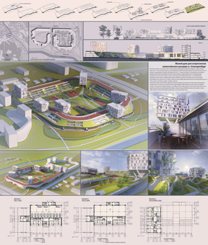 Жилой дом для спортсменов олимпийского резерва в Екатеринбурге