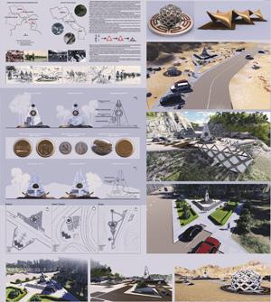 Проект памятных знаков (триптих) Российско-Монгольской дружбы в годы ВОВ на Чуйском тракте (Дружба-Найрамдал)
