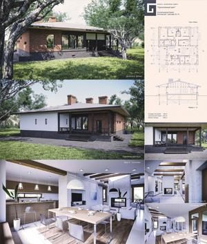 Проект жилого дома на одну семью «Одноэтажный дом»
