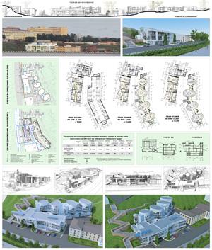 Концепция застройки административного здания и здания кафе вместимостью 200 мест на набережной Ижевского пруда «Белая жемчужина»