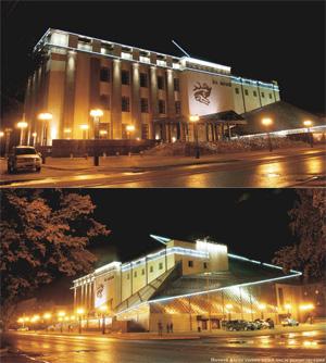 Реконструкция здания национального музея Респубики Алтай им. А.В. Анохина в Горно-Алтайске