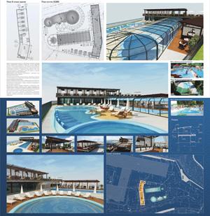 Проект реконструкци уличного бассейна санатория «Катунь». Белокуриха