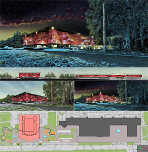 Проект реконструкции ДК «Академия» в новосибирском Академгородке. Архитектор Алексей Клементьев