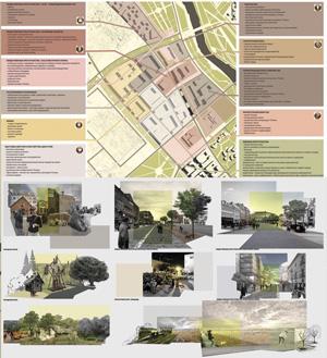Концепция стилевого и типологического разнообразия городской среды нового посада в Звенигороде