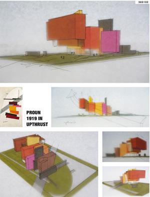 Миры Эль Лисицкого / Worlds of El Lissitzky: Harry Rödel. Проун 1919 выдавленный / Proun 1919 upthrust