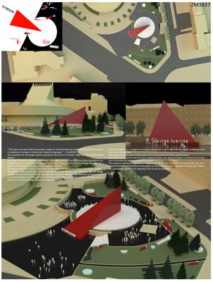 Миры Эль Лисицкого: Здравко Баришич, Мирослава Спасенович: Красный клин | Архитектурные конкурсы