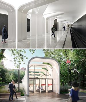 Проект станции московского метрополитена «Кленовый бульвар 2». Blank Architects