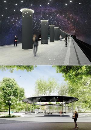 Проект станции московского метрополитена «Кленовый бульвар 2». Buro Vozduh