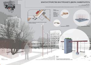 Конкурсный проект зеленой рекреационной зоны в университете НИУ МГСУ