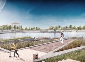 Озеро по ул. Хандадаша Тагиева в Дербенте. Консорциум под лидерством ООО «Студия Камиль Цунтаев»
