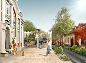 Территория городского сада в Буйнакске. Консорциум под лидерством ООО «Студия Камиль Цунтаев»