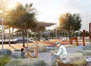 Территория городского сада в Буйнакске. Консорциум под лидерством ООО «Институт территориального развития»