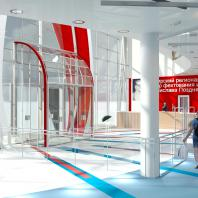 Проект здания фехтовального центра в Новосибирске. Проектная организация: «АкадемСтрой». Руководитель проекта: Турецкий Б.М. 2017 г.
