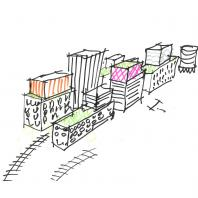 Ligovsky City. Проект трансформации территории бывшей товарной станции на Лиговском проспекте в Санкт-Петербурге. Orange Architects, КСАР Architects & Planners. 2020 г.