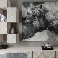 «Золотой Трезини 2019». Лучший реализованный проект дизайна интерьера с использованием произведения искусства / Пентхаус в «Парадном квартале» (Санкт-Петербург), Yudin & Novikov