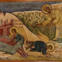 Жатва. Сын человеческий производит суд. Фресковая живопись Троице-Макарьева монастыря