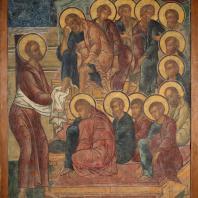 Омовение ног. Фресковая живопись Троице-Макарьева монастыря