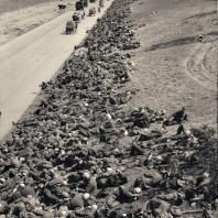 Фишман-Борисов Б.Я. «Все-таки они попали в Москву – но пленными» Колонна немцев на привале. 1944