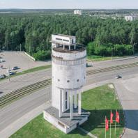 Белая башня. Екатеринбург. Вид летом сверху. 2019. Фото: Константин Антипин